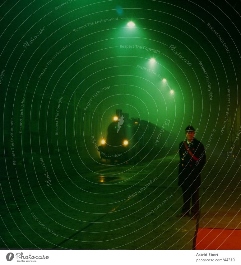 Green Fog Transport Railroad Train station Arrival Ticket collector
