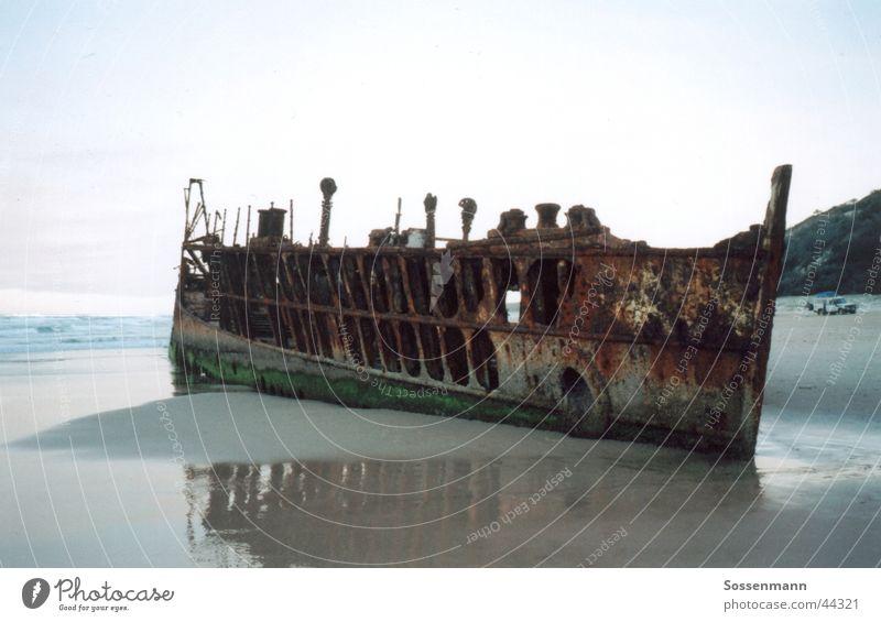 shipwreck Watercraft Beach Ocean Australia Fraser Island Wreck Rust