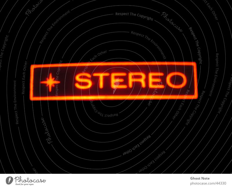 stereo Stereo Music Red Black Light Macro (Extreme close-up) Close-up Characters Share Sound