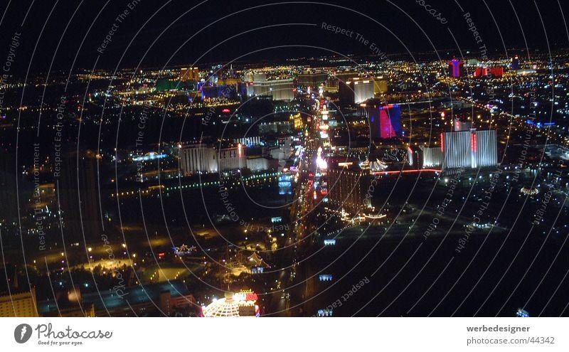 Las Vegas Strip Striptease Night Horizon North America stratosphere Skyline