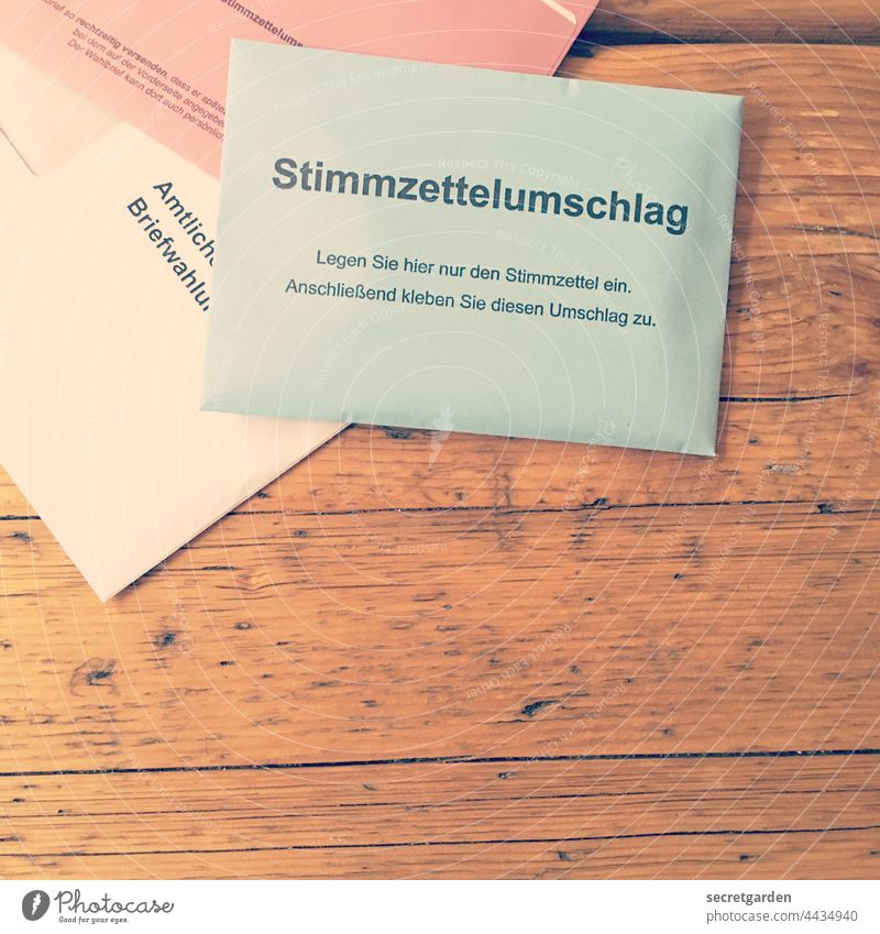 Bring about a decision. Elections ballot paper Germany ballot papers Envelope Ballot envelope absentee balloting Politics and state Select Democratic
