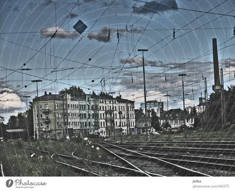 Clouds Poverty Railroad Industry Railroad tracks Ghetto Industrial heritage