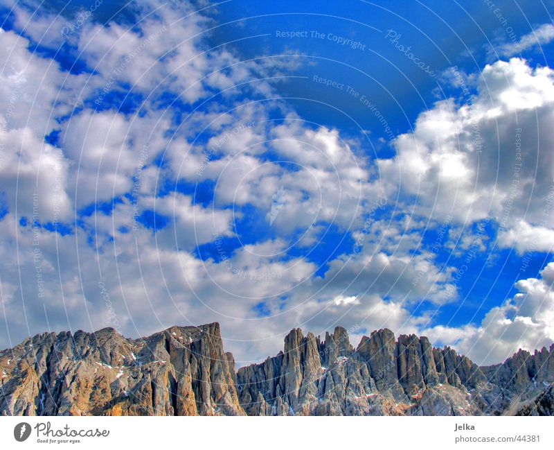 Sky Clouds Mountain Hope Alps Italy Wanderlust South Tyrol Dolomites North Homesickness Clouds in the sky Alpine Veneto Chalk alps Trento