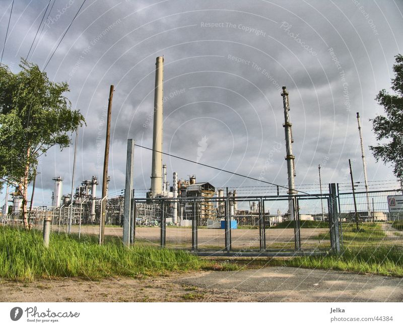 oil bunkers Industry Tower Oil Dark Refinery oil refinery shell Colour photo