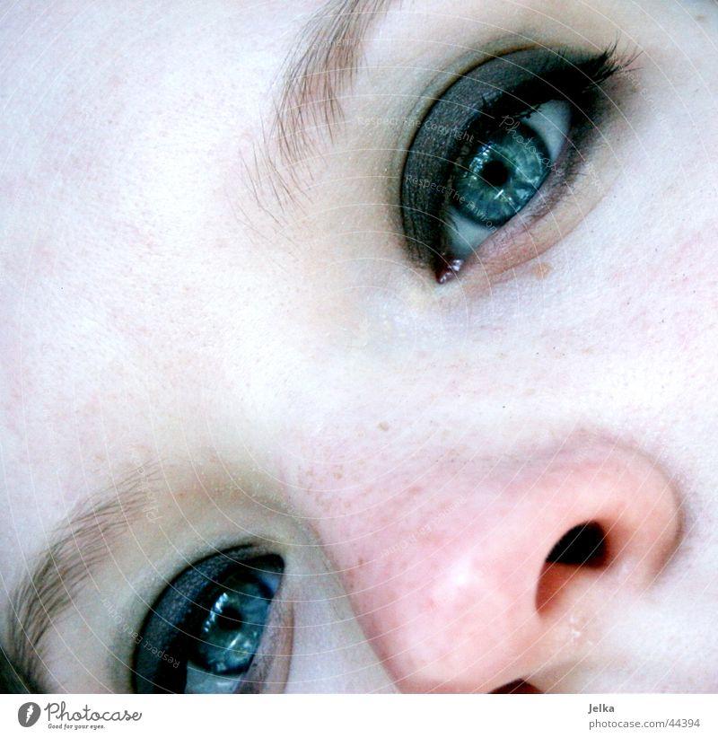 nasal Beautiful Face Cosmetics Make-up Mascara Human being Feminine Girl Young woman Youth (Young adults) Woman Adults Eyes Nose 1 13 - 18 years Eyebrow