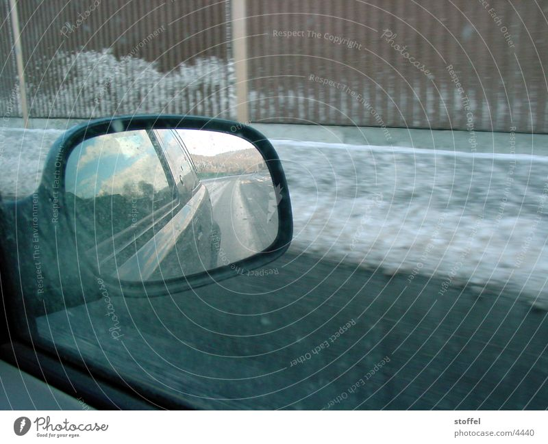Winter Car Mirror