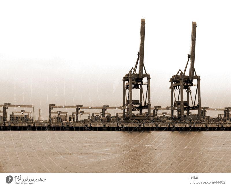 Water Watercraft Hamburg Planning Industry River Harbour Crane Elbe Port of Hamburg