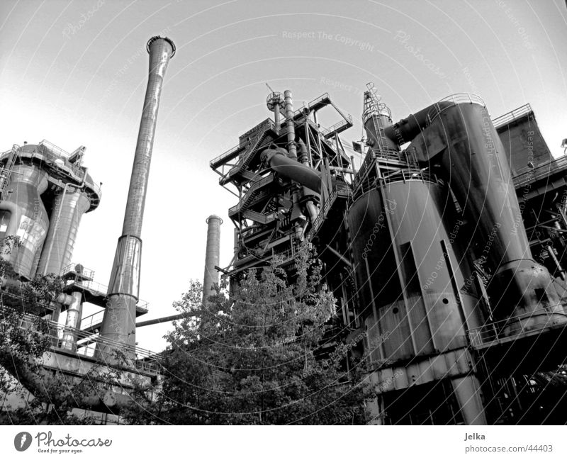 Duisburg-Nord Landscape Park Industry Machinery Technology Tower Power Industrial Photography Black & white photo