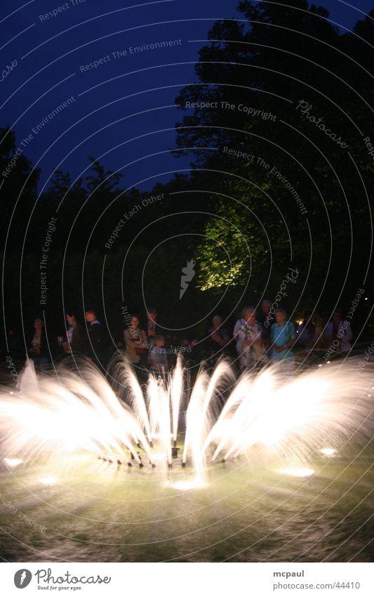 Fountain at night Night Club Water