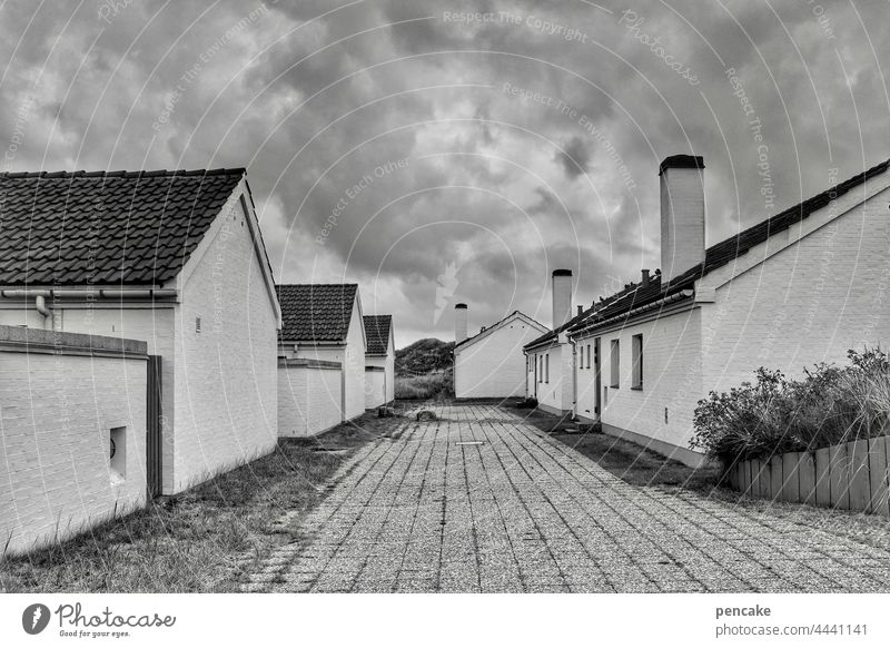 occupied | the settlers settlement houses Fireside Brick Vacation home Holiday home settlement Old 80s Home Social owner homeowner Denmark North Sea coast