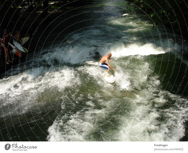 Man Joy Sports Waves Brave Surfing Refrigeration