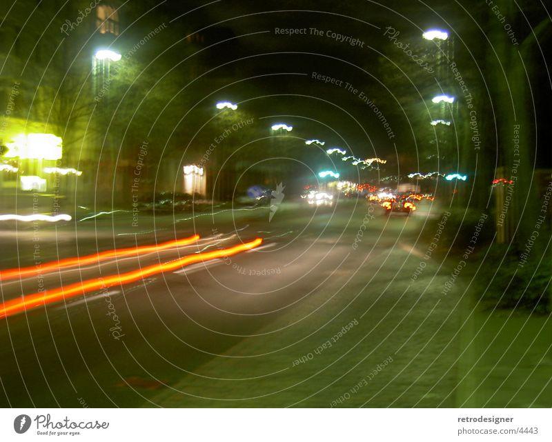 disco tour Light Night Long exposure Speed Dark Lamp Lantern Rear light Transport Car Floodlight