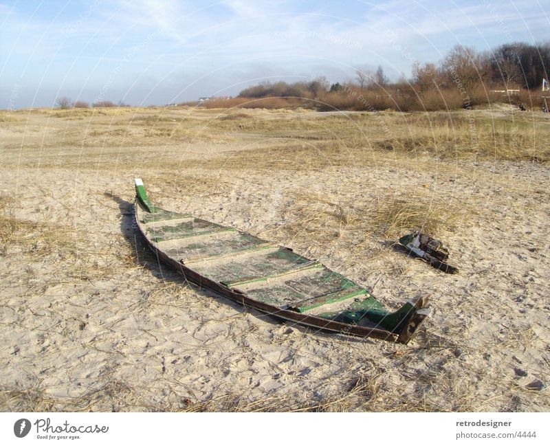 Lost Boat Watercraft Fisherman Beach Laboe Wood Historic Old Derelict