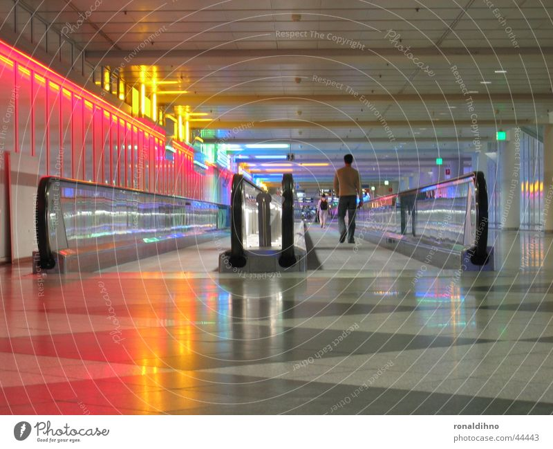 Lighting Architecture Walking Airport Escalator Moving pavement