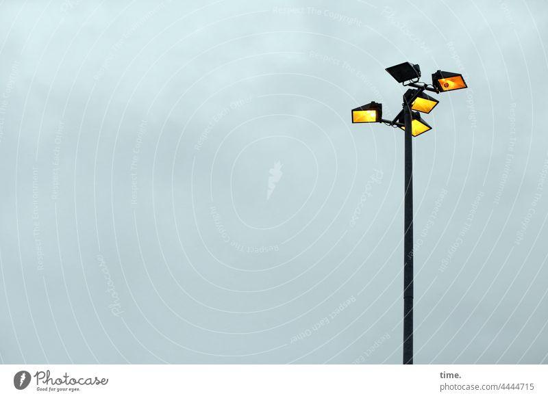 Lightboxes (28) lamps lamp post Sky Gray cloudy Illuminate factory premises Spotlight lamppost