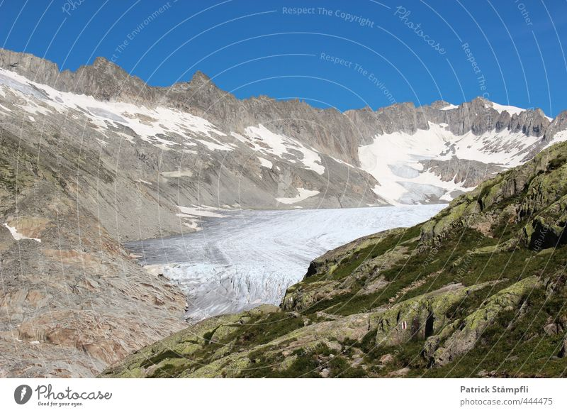 Sky Nature Summer Landscape Mountain Rock Climate Tourism Beautiful weather Adventure Alps Cloudless sky Climate change Glacier