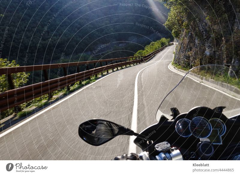 Kurvenlust - experience the curves in the mountains with your motorcycle Motorcycle Motorcycling curvaceous Curvaceousness fun to drive passports Mountain