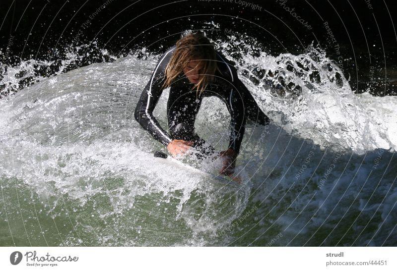 Water games. Eisbach Munich Brook Waves Surfing Dangerous Wet Inject Sports EOS babatunde River Threat