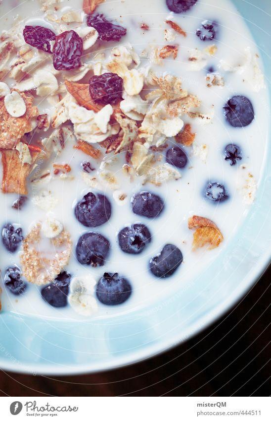 Blueberry soup. Art Esthetic Breakfast Morning break Breakfast table Cereal Food photograph Healthy Eating Vegetarian diet Vitamin-rich Raisins Milk Nutrition