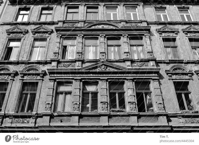 eine schöne alte Hausfassade Halle (Saale) haus Germany Hall Saale Saxony Anhalt Deserted Old bnw Town Hall/Saale Architecture