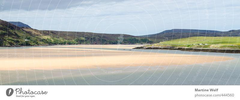 Nature Vacation & Travel Beautiful Calm Landscape Beach Far-off places Coast Freedom Sand Idyll Europe Trip Hill Bay Scotland
