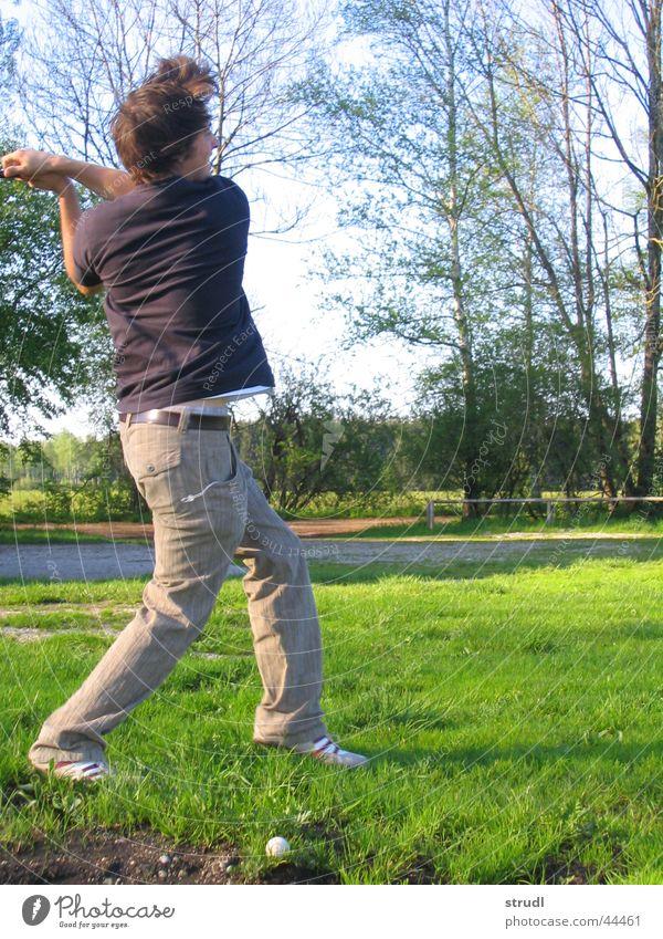 Missed. Beautiful Summer Meadow Grass Sports cross golf Golf Nature Ball