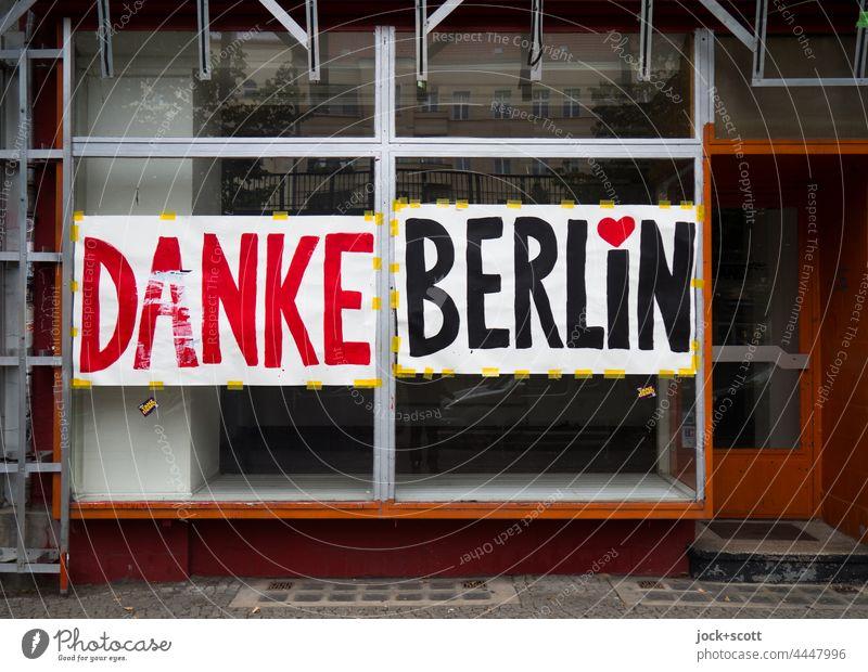Thanks Berlin German Word Street art store Schönhauser Allee Prenzlauer Berg Downtown