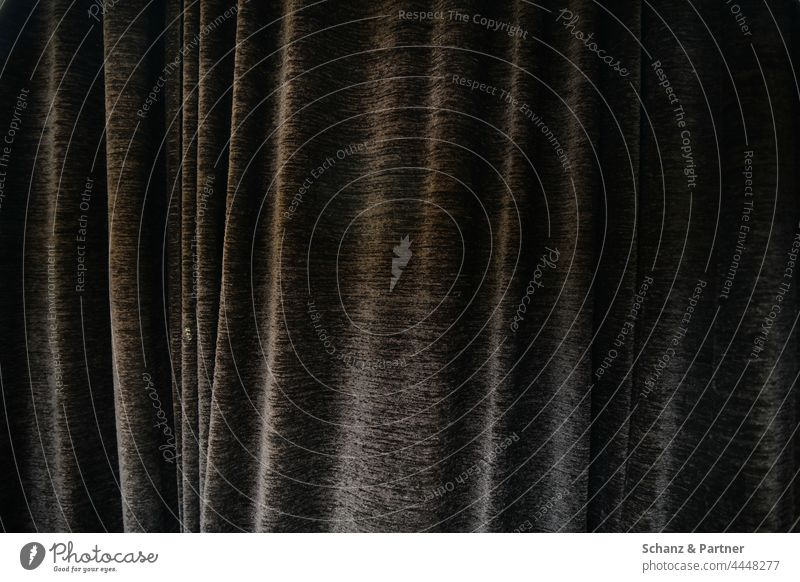heavy drape Drape Cloth Folds opaque Theatre Gray Waves at the back behind Hang Wrinkles Curtain Screening Structures and shapes texture Gloomy