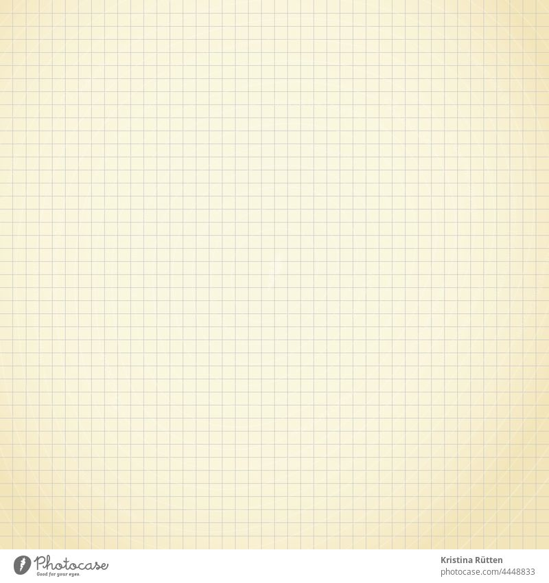 a piece of checkered paper check paper Paper Checkered Block Piece of paper notepad Notepad grease sheet Inscribe background Copy Space Patina faded discoloured