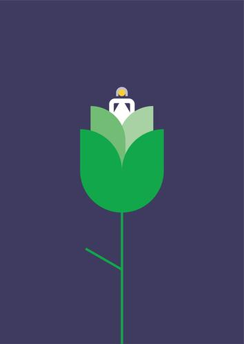 Eco flower Ecology Grow Flower Illustration Mental health Graphic Simple Ecological