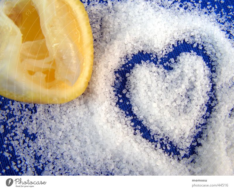 Blue Love Yellow Heart Sweet Anger Sugar Lemon