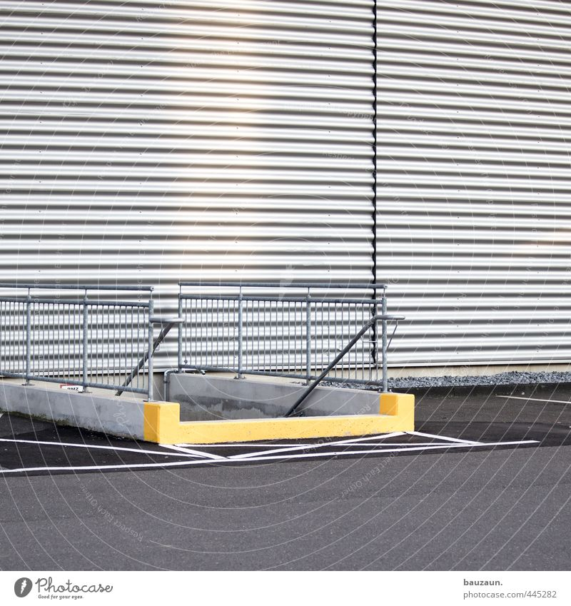 Yellow Wall (building) Street Wall (barrier) Lanes & trails Building Gray Stone Metal Facade Stairs Signs and labeling Places Concrete Signage Industry