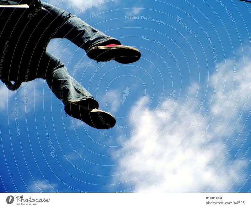 Sky Joy Clouds Feet Footwear Aviation Jeans Chucks Sneakers Hover Amusement Park