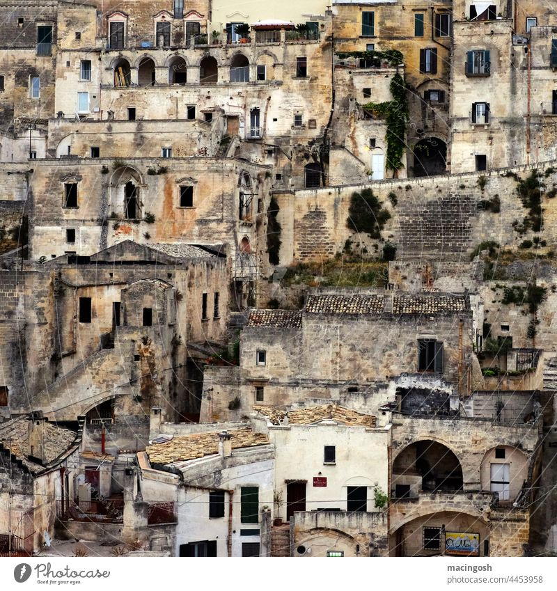 The Sassi in Matera, Basilicata matera Italy southern italy Vacation & Travel Exterior shot Tourism Landscape Deserted Europe Architecture Old town Building