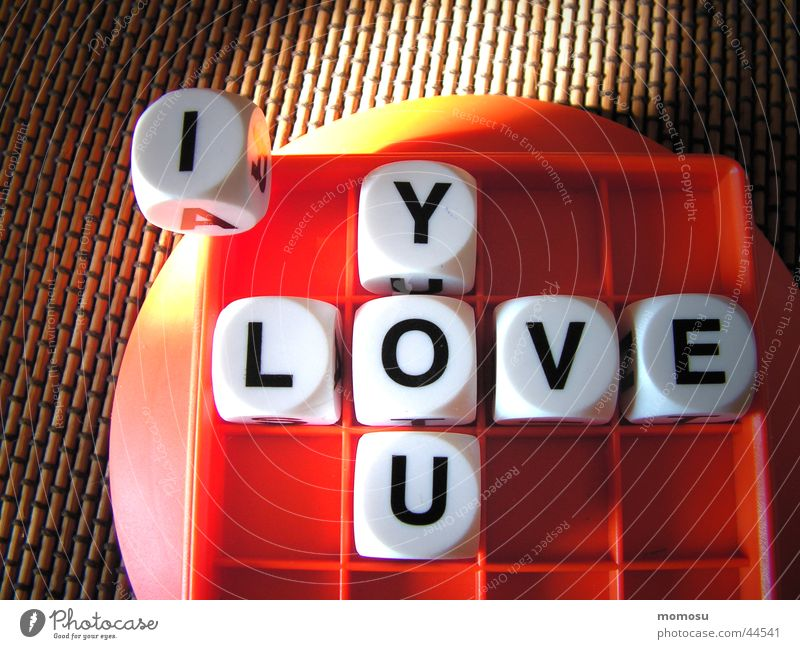 Love Playing Dice Leisure and hobbies Letters (alphabet) Word