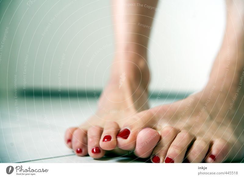 um, yeah, well..... so eiiiinklich.... No way! Lifestyle Style Beautiful Personal hygiene Pedicure Nail polish Woman Adults Feet Women`s feet 1 Human being