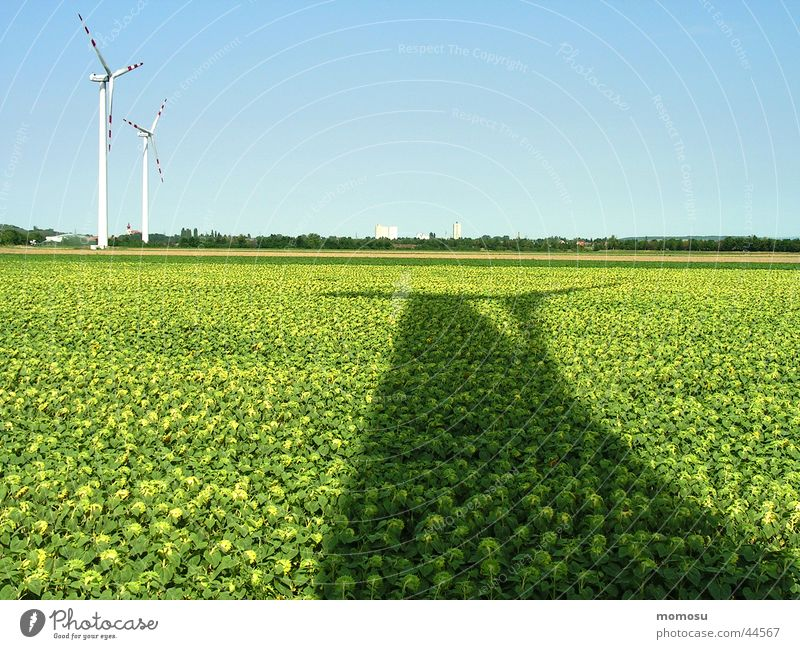 ...energy shadow Field Sunflower Light Science & Research Wind energy plant Energy industry Shadow Sky