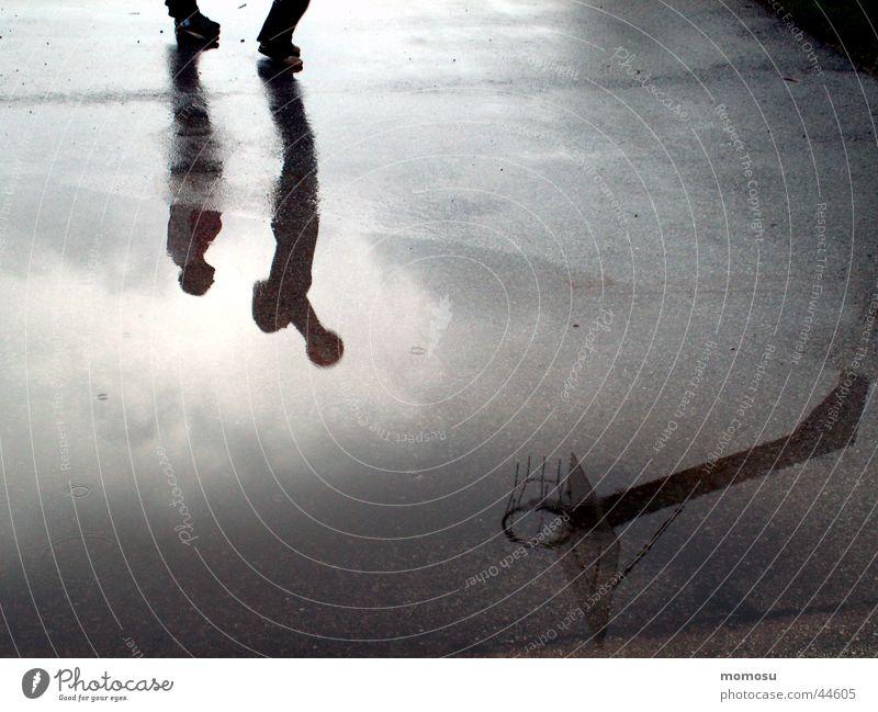 shadow play Reflection Wet Child Playing Moody Sports Shadow Ball Basketball Varnish Water