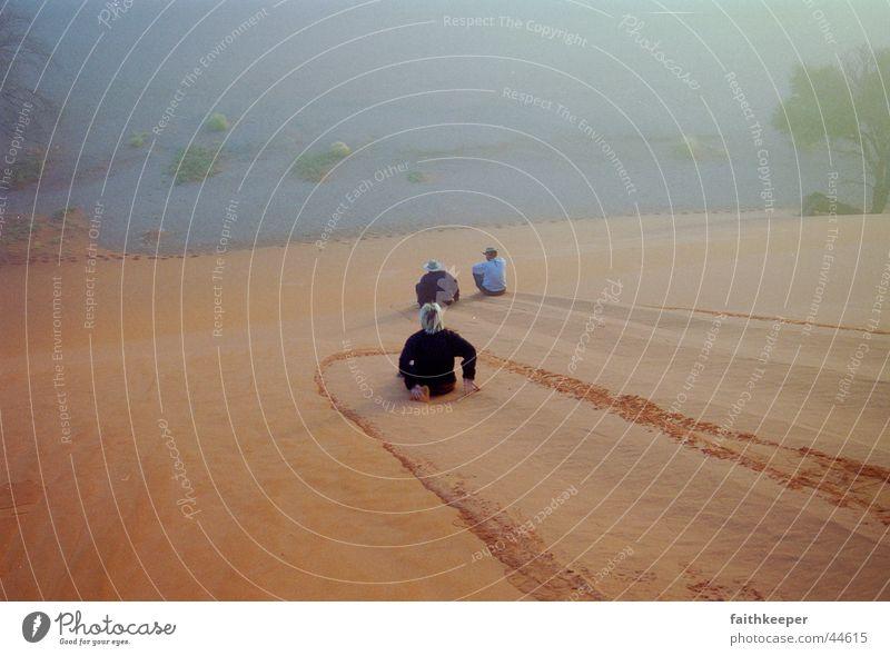 downhill Namibia Sossusvlei Fog Mountain Desert Beach dune red sand Namib desert
