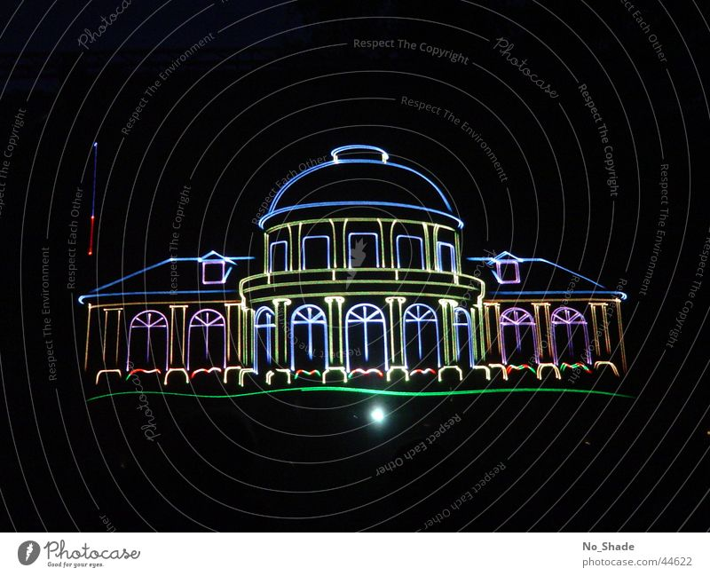 casino Casino Bad Ems Laser Laser show Rheinland-Pfalz-Tag fair Light Architecture Image Projection screen Kuhrstadt Illustration