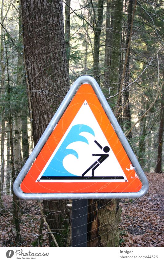 Dangerous River Threat Leisure and hobbies Caution High tide Warning sign Tidal wave