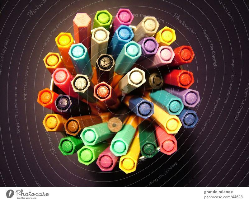 Colour Painting (action, work) Creativity Pen Palett Felt-tipped pen