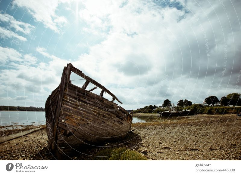Sky Old Landscape Calm Beach Coast Time Gloomy Broken Transience Change Past Decline Navigation Trashy Competition