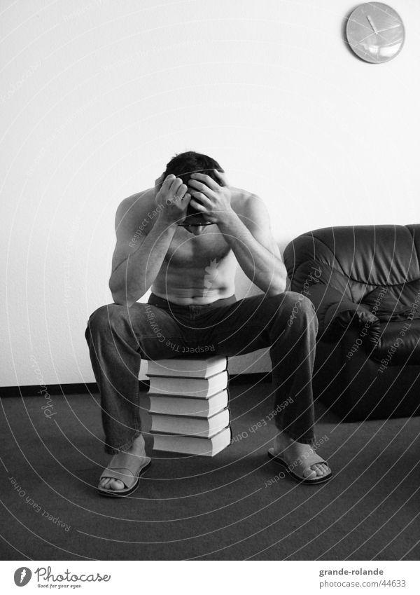 The Thinker Book Time Man Know Pressure Sit ponder Distress Haste