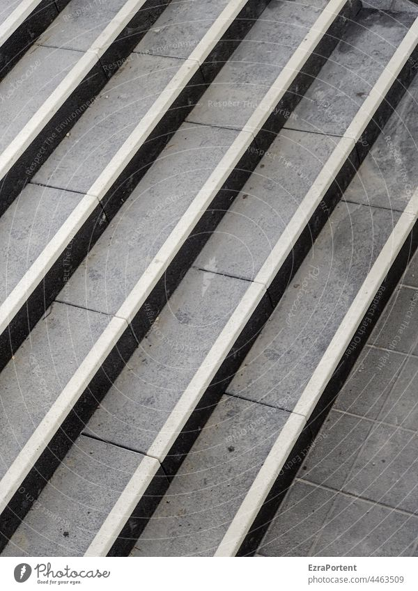 staircase Stairs Stage Gray lines Architecture Upward stagger Downward Landing Descent ascent slabs Black White