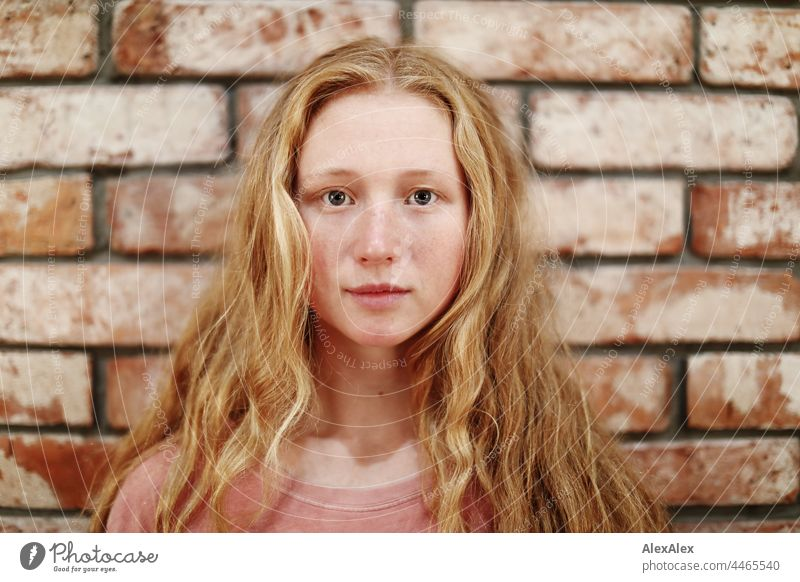 Close up of young woman with freckles and red hair portrait Near proximity Emanation tranquillity vigorous pretty Youth (Young adults) Adults Red-haired