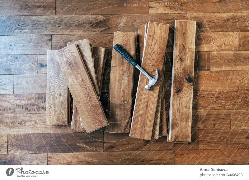 Solid oak wood flooring solid renovation solid wood handscraped home installation wooden European oak oiled handyman parquet house construction rustic