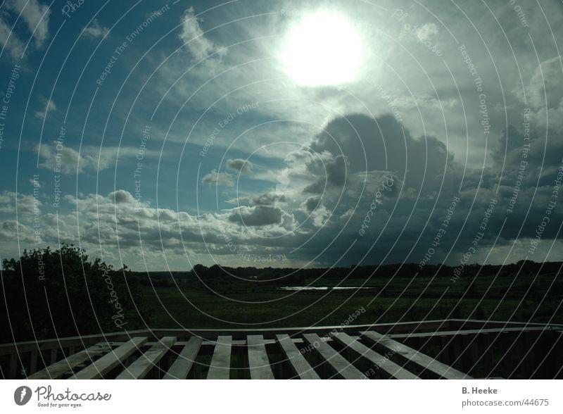 Sky Sun Clouds Vantage point Tower