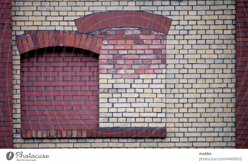 Beautifully clinkered windows Window House (Residential Structure) Facade Building Wall (building) Manmade structures Town Closed locked bricked up