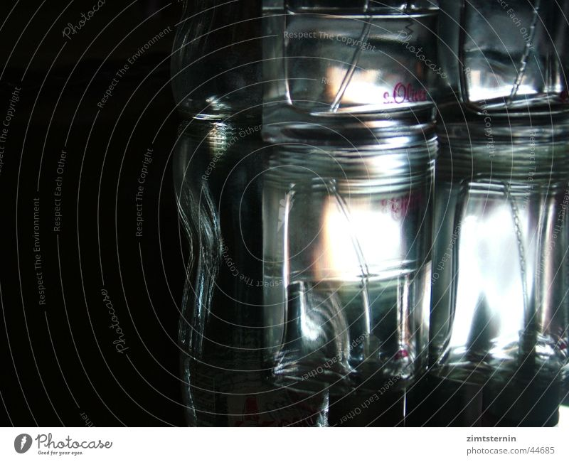 Glass Mirror Bottle Double exposure Perfume